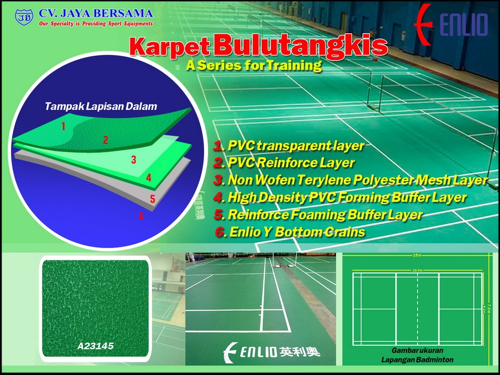 Lantai Lapangan Bulu Tangkis A Series Training Badminton
