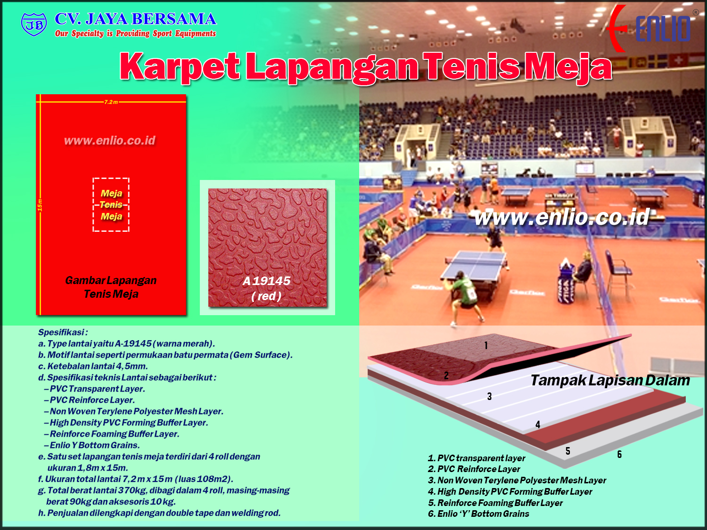 Katalog Karpet Tenis Meja Enlio Indonesia